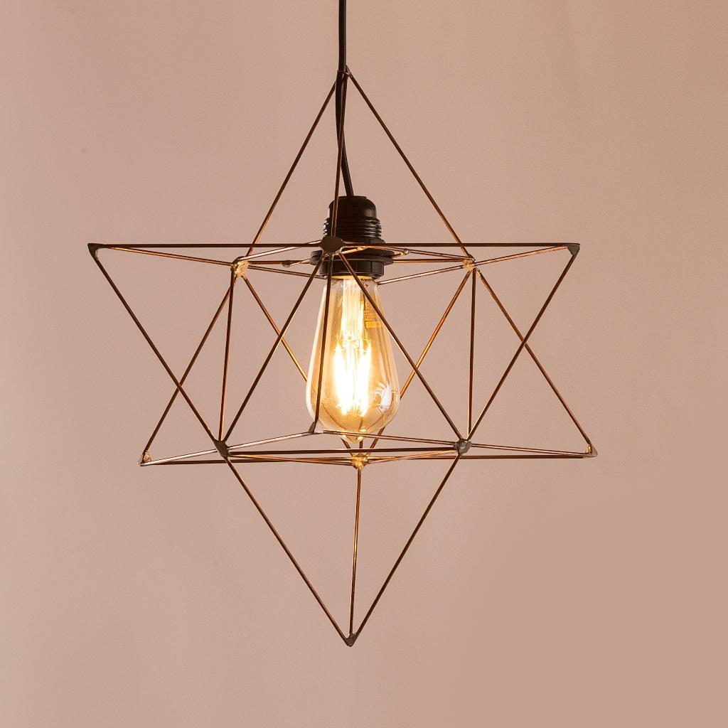 Geometrie / Verlichting : Ster tetraëder lamp